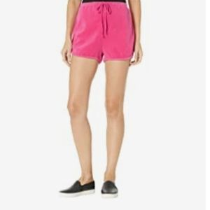NWT JUICY COUTURE BLACK LABEL PINK VELOUR SHORTS